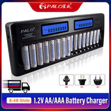 8-48 Slots Fast Smart Charger LCD Display Intelligent AA AAA Battery Charger for 1.2V AA AAA Ni-MH NiCd Rechargeable Battery