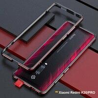For Xiaomi Redmi K20 Pro case Metal Frame Luxury Original Glossy Aluminum bumper protector cover for Xiaomi Redmi K30 case funda