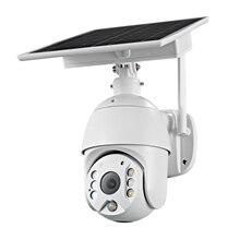 4G SIM Card 1080P 2MP PTZ IP Camera WIFI 8W Solar Panel Battery Security PIR Camera Outdoor CCTV Cam