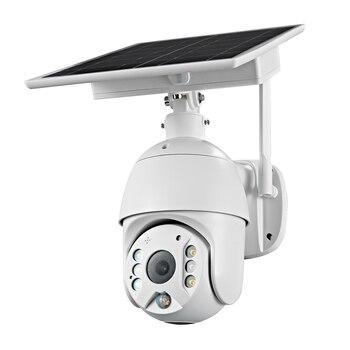 4G SIM Card 1080P 2MP PTZ IP Camera WIFI 8W Solar Panel Battery Security PIR Camera Outdoor CCTV Camera Smart Security Monitor