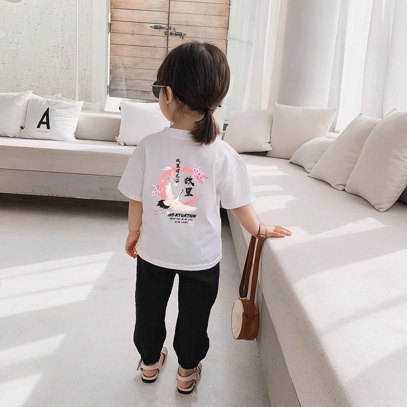 Детская футболка для девочек, модные летние хлопковые топы, футболки для малышей, детская одежда, Мультяшные футболки, повседневная одежда ...