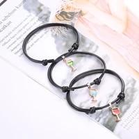 fashion wine glass pendant adjustable bracelet creative 1piece set leather hand chain jewelry elegant women party accessories