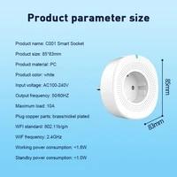1PC Smart WiFi Socket EU Smart Plug Double USB Port Support For Alexa Google Home WiFi Socket Eu Plug Double USB Port Smart Plug