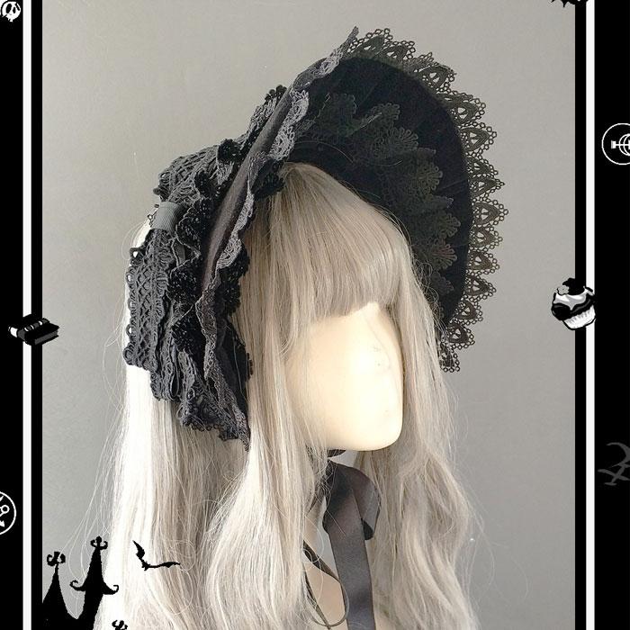 محمية على شكل وردة ~ غطاء رأس كلاسيكي من الدانتيل للتزيين الفيكتوري بنصف رأس من Infanta