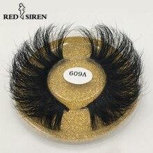 Sirène rouge 25mm vison cils dramatiques longs cils naturels faits à la main 25mm 3d vison cils maquillage vendeurs faux cils