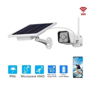 YN50 Audio 2MP Security CCTV Cameras Outdoor Solar Security Camera 2 Way Audio Wireless WiFi Surveillance Camera