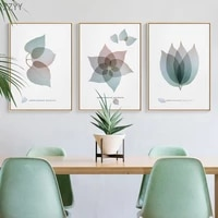 nordic abstract leaf flower art adornment picture canvas print painting wall art pictures for living room home decoration poster