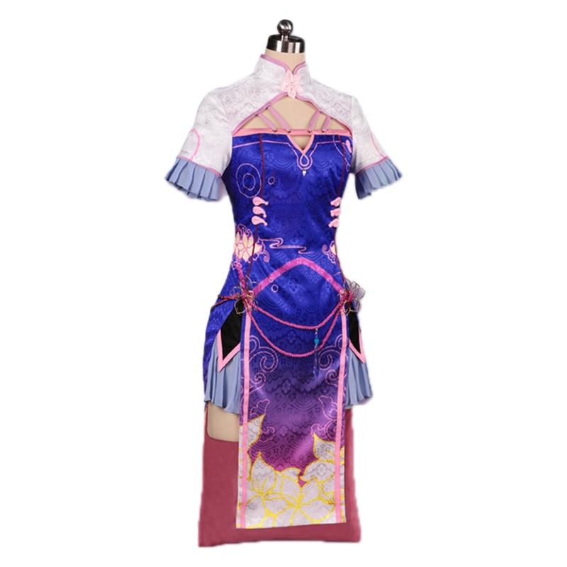 OW cosplay disfraz DVA Cheongsam chino mujeres y niñas D. VA vestido uniforme para cosplay de Halloween