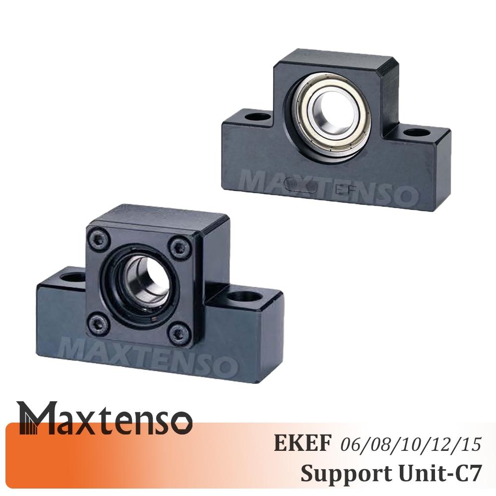 MAXTENSO Support Unit Set EKEF Professional EK06 EK08 EK10 EK12 EK15 with C7 EF06 EF08 EF10 EF12 EF15 for ball screw TBI sfu 12