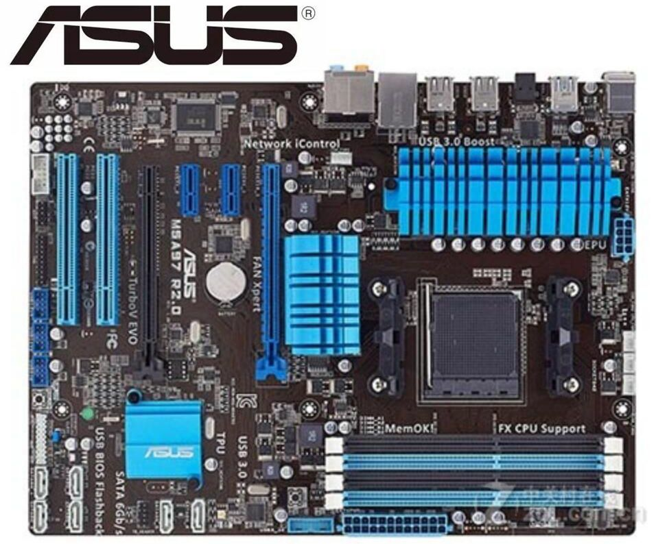 Placa base original para ASUS M5A97 R2.0, AM3 + DDR3, USB3.0, 32GB,...