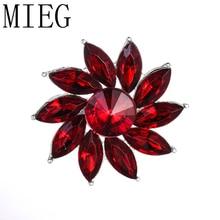 MIEG 7 couleurs pour choisir des broches florales en cristal clair à la mode pour les femmes ou les accessoires de broche de bijoux de fille