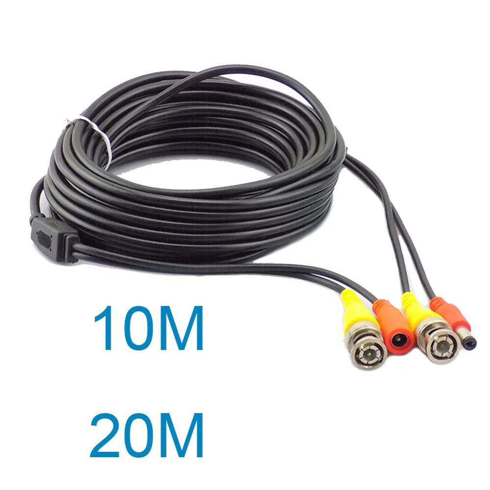 Cable de cámara CCTV, sistema de grabación DVR, Cable de vídeo, alimentación...