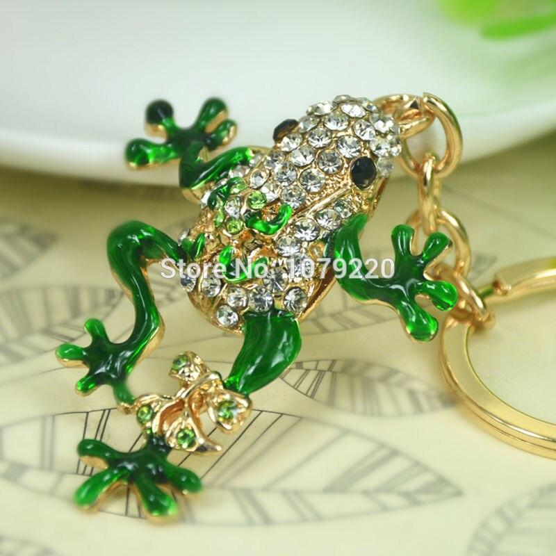 T Frog автомобильный брелок, милые Стразы, кристальная подвеска в виде ключа, сумка, цепь, рождественский подарок, новая мода