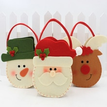 Christmas Decoration Gift Candy Bag Children's Holiday Supplies Creative Cartoon Double-sided three-