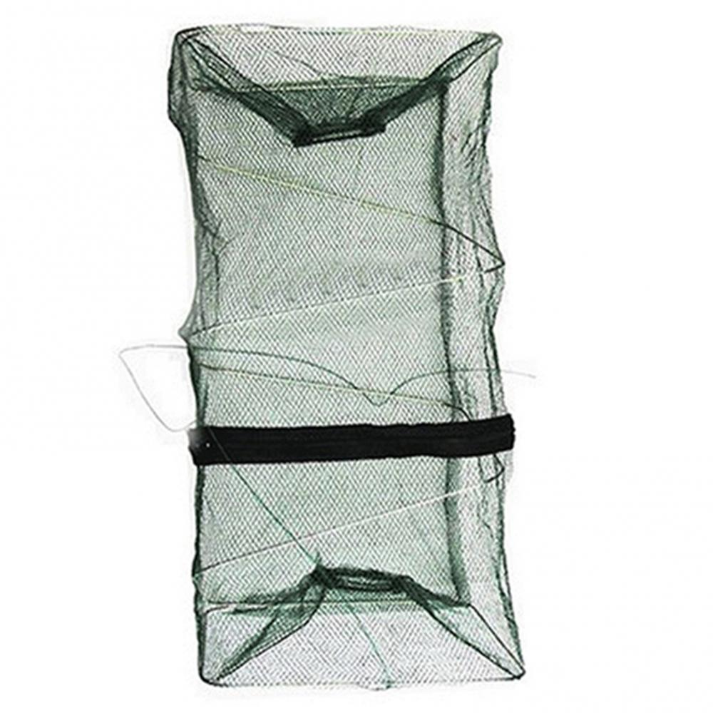 50% Hot Sale Foldable Fish Crawdad Minnow Fishing Bait Trap Cast Dip Net Cage Shrimp Basket Fishing Accessories