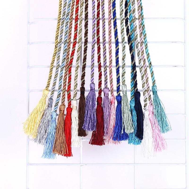 10 pçs/set 110cm tassel tie corda cortina cinta decorações interiores diy acessórios borla corda pendurado