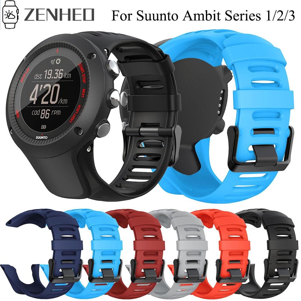 24mm Silicone Strap For Suunto Ambit Series 1/2/3 Watchband For SUUNTO AMBIT 1/2/2S/2R/3P/3S/3R Sport Watch Band