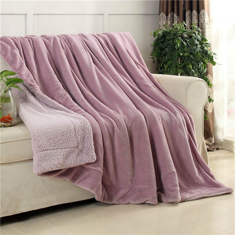 Papa & Mima-مفرش سرير من الألياف الدقيقة على الوجهين ، ناعم ، دافئ وسميك ، لفصل الشتاء