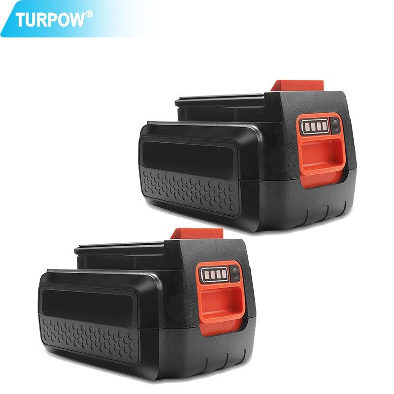 Turpow 3.0Ah 36V 40V LBX36 Rechargeable Battery For Black&Decker LBXR36 BXR36 LST136 LST420 LST220 LST300 MTC220 MST1024 Battery