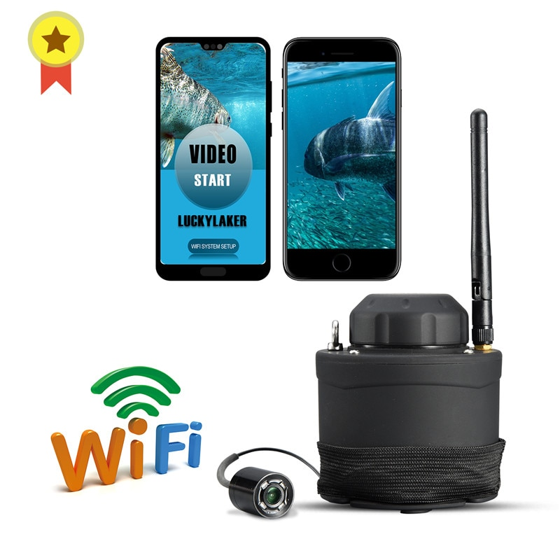 Russian menu!LUCKY Portable WIFI Underwater Camera FF3309 80m wireless operating range