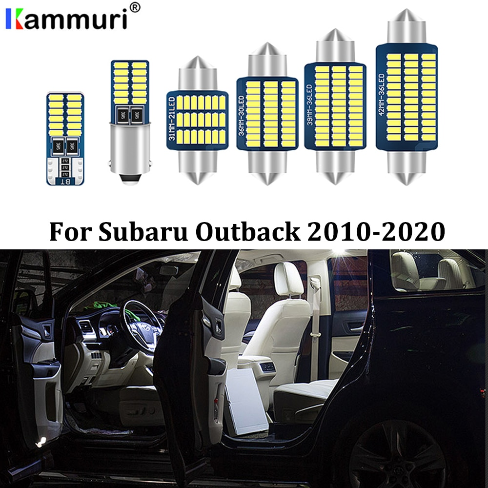 KAMMURI 14X Error Free White LED Car Interior Light Package Kit For 2010- 2017 2018 2019 2020 Subaru Outback LED Interior Lights
