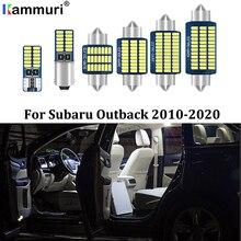 KAMMURI lumières intérieures de Subaru   Kit de lumières intérieures de voiture, 2010- 2017 2018 2019, blanc sans erreurs, Kit de lumières intérieures de voiture, pour Subaru Outback 2020