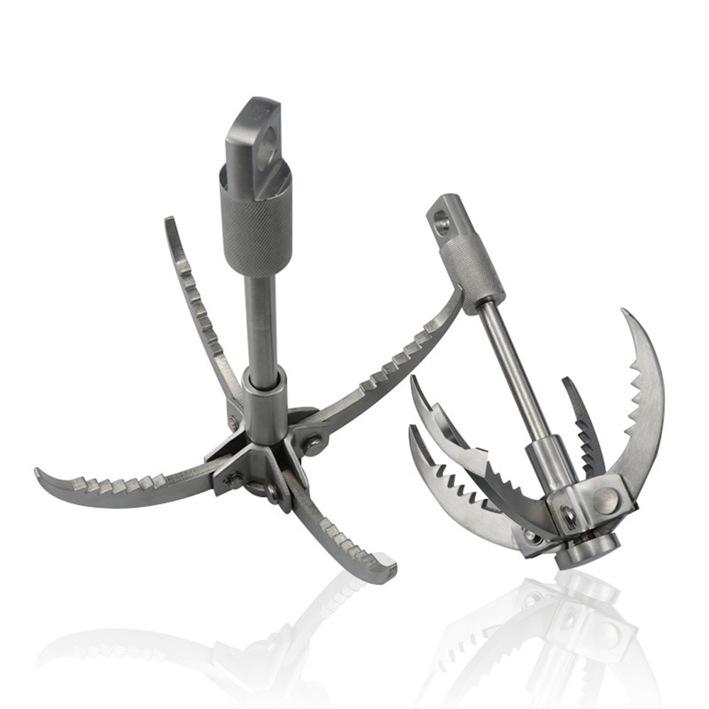 Folding mountaineering grappling hook outdoor rock climbing hunting tree climbing survival grappling hook rescue tool