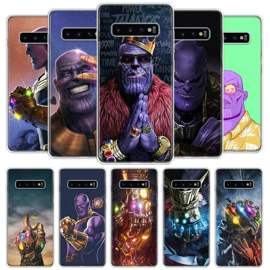 Thano Guantelete del Infinito funda de teléfono funda para Samsung Galaxy S20 Ultra S10 Lite Nota 10 9 8 S9 S8 J4 J6 J8 Plus + S7 borde Coque