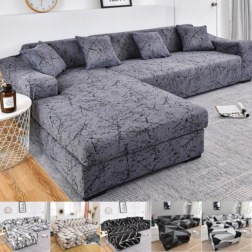 Эластичный чехол для дивана в гостиную, регулируемые геометрические диваны, чехлы для шезлонг, секционный диван, угловой диван, чехол для ди...