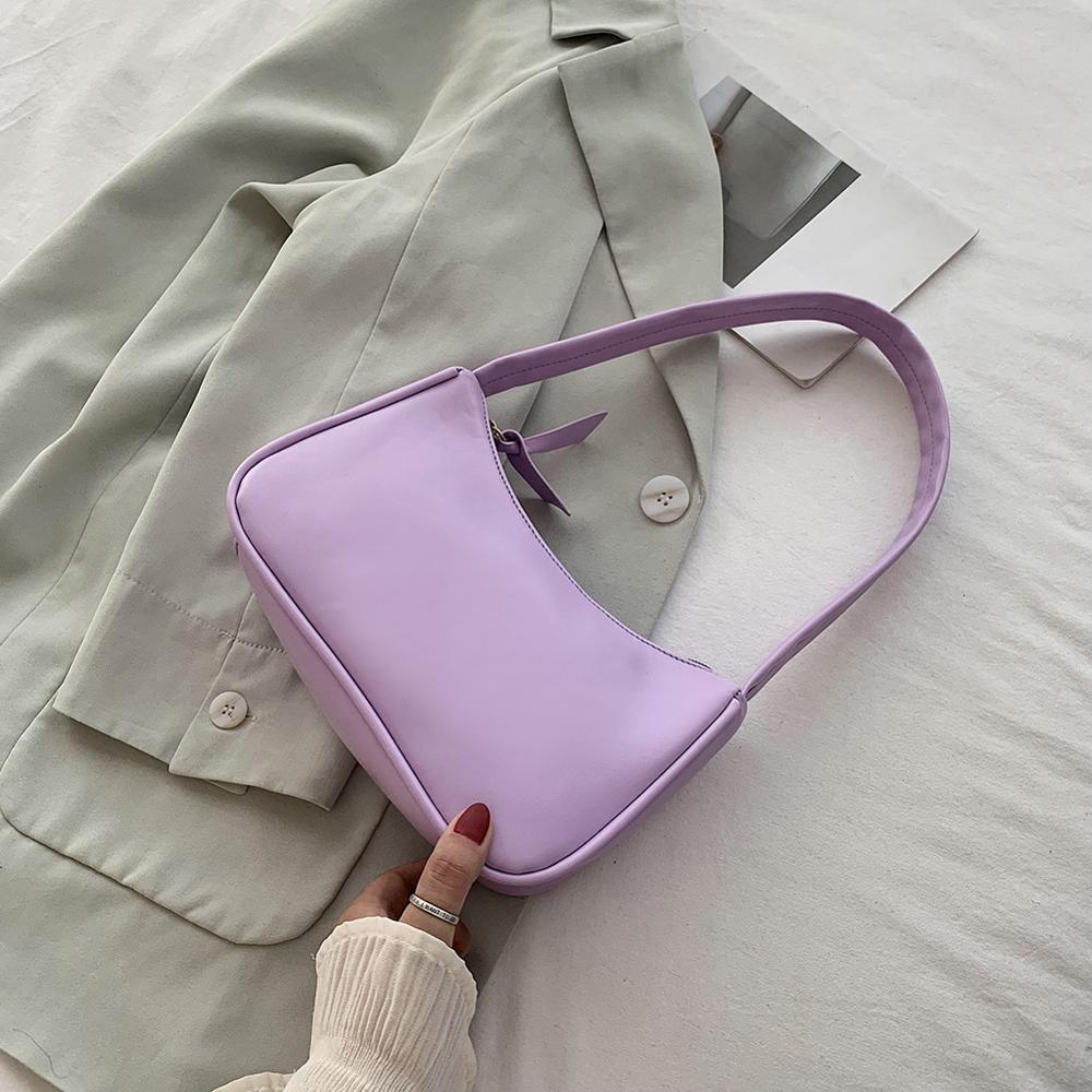 Bolso de hombro Retro Vintage Hobos bolso para mujer de cuero PU femenino Baguette bolso Subaxillary Mini Bolsa femina2020