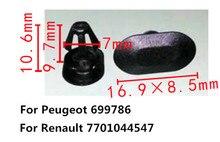 Attaches en Nylon pour Renault 500   7701044547 pièces, haute qualité, bande métallique noire pour Peugeot 699786