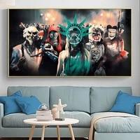 Affiche de Film populaire  The Purge   peinture sur toile sur lart mural  photo anti-emeute  pour cinema  decoration de la maison