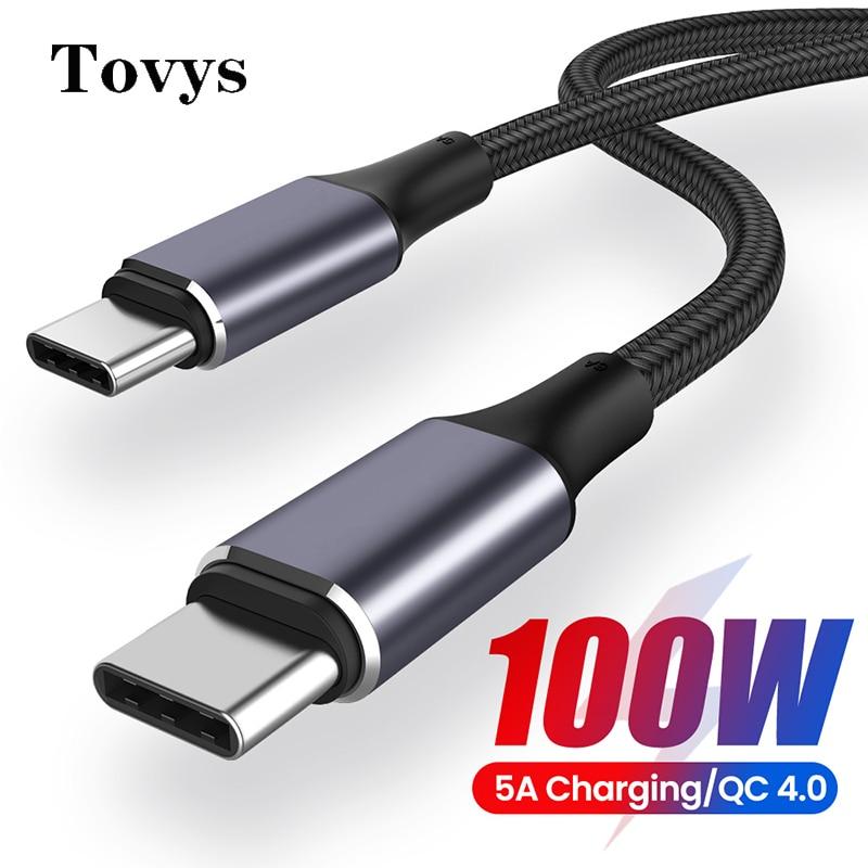 Cable USB tipo C a USB C PD de 100W, USB-C de...