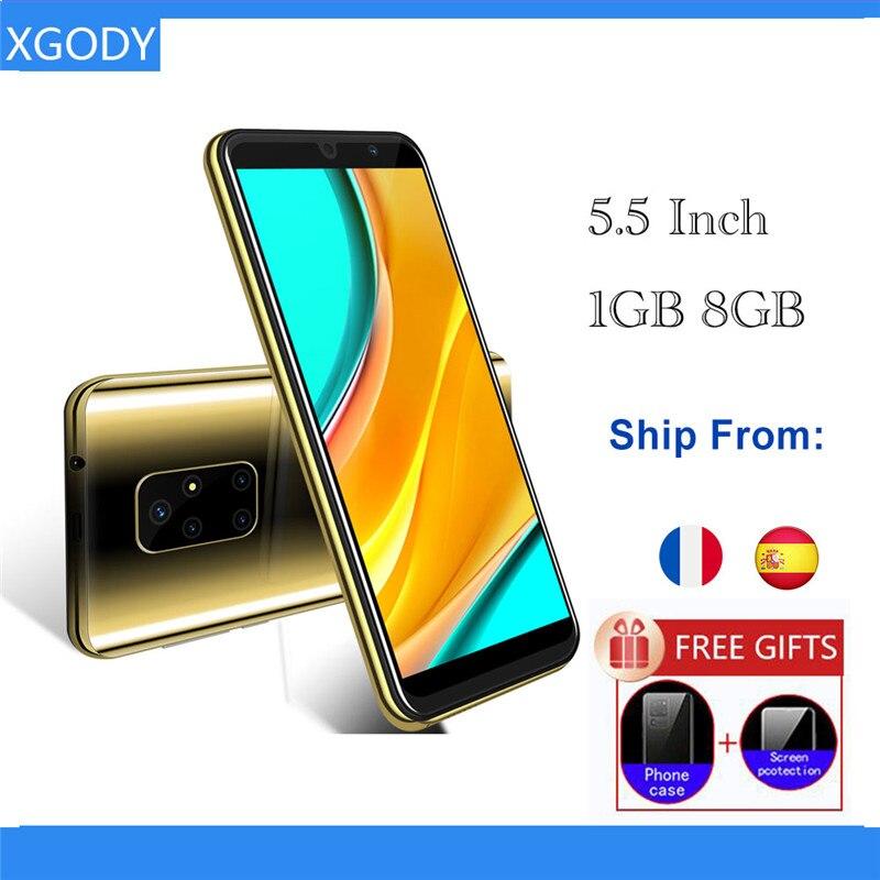 3G Smartphone Android 8.1 5.5inch Small Screen 1GB 8GB MTK6580 Quad Core 5MP Camera 2200mAh Mobile Phone 3g teléfono