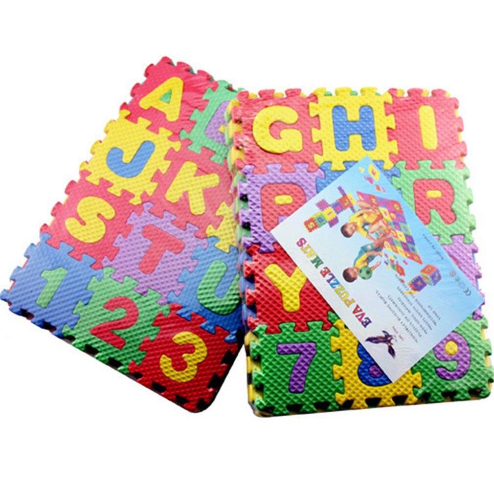 Детские EVA пены головоломки игровой коврик детские ковры Блокировка упражнения пол дети пол головоломки ковер плитка