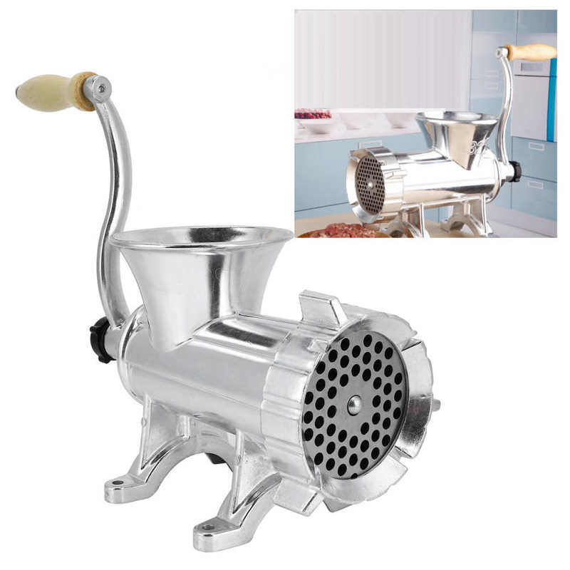 Manual Meat Grinder Aluminium Alloy Mincer Vegetable Grinding Machine for Home Kitchen Use