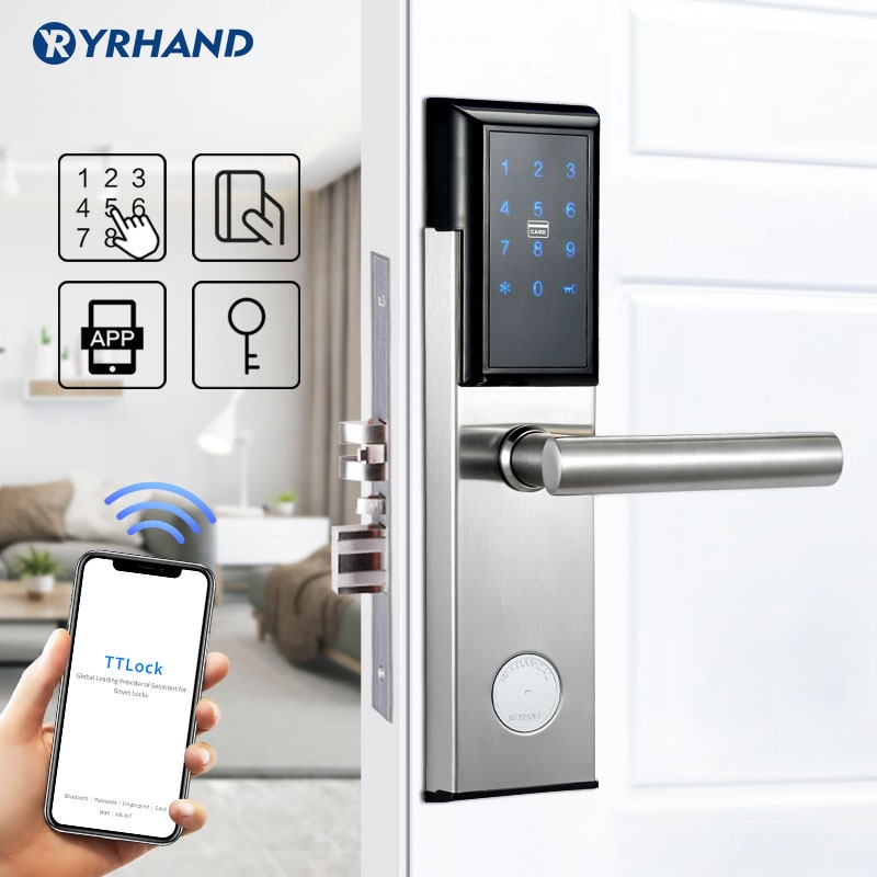 Get Electronic Door Lock,Smart Bluetooth Digital APP Wifi  Keypad Code Keyless Door Lock,Password Keyless Door Lock Electronic