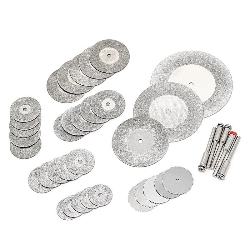 38 Pcs Diamonte Cutting Disc Saw Blade Grinding Wheel Set Rotary Tool Circular