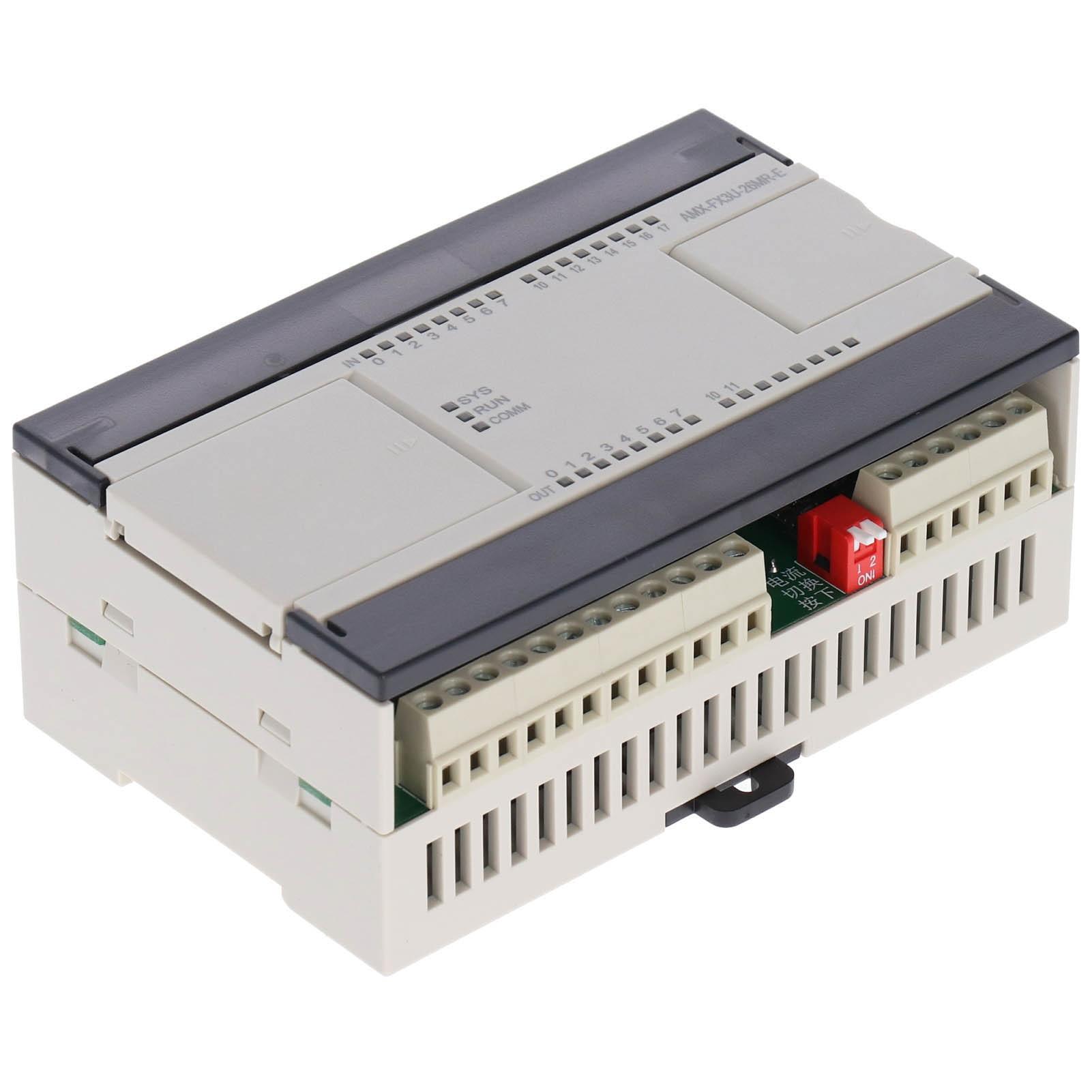 ادوات تحكم قابلة للبرمجة PLC AMX-FX3U-26MR-E التتابع مع منفذ إيثرنت التناظرية DC24V للبرمجة تحكم التحكم الصناعي بو