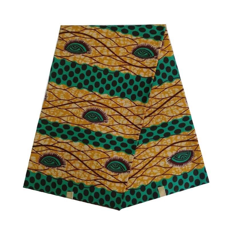 2019 de cera africana de Nigeria bloquear imprimir en 6 yardas tela 100% algodón deseado los ojos de diseño de alta calidad de V-L 624