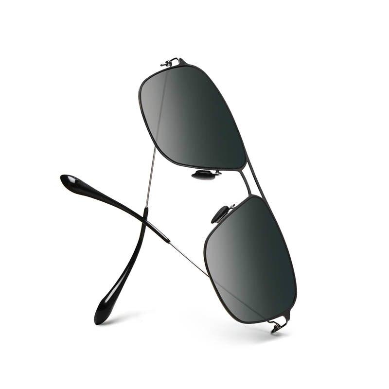 Xiaomi-صندوق النظارات الشمسية الكلاسيكي Pro ، مربع التدرج الرمادي الكلاسيكي ، إطار الفولاذ المقاوم للصدأ ، عدسات مستقطبة ، مضاد للأشعة فوق البنف...