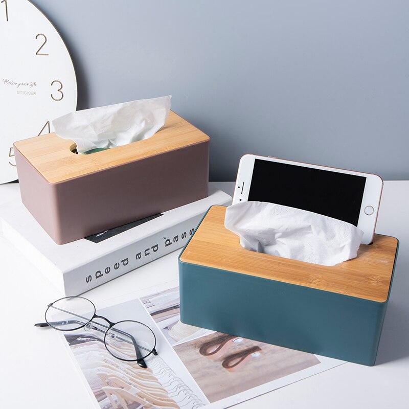 الأنسجة حامل علبة مناديل خشبية المنزلية الأنسجة صندوق سيارة الأنسجة صندوق غرفة المعيشة المنزلي ضخ صندوق التحكم عن بعد صندوق تخزين