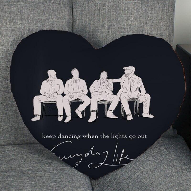 Горячая Распродажа Coldplay Чехол-наволочка для подушки в форме сердца