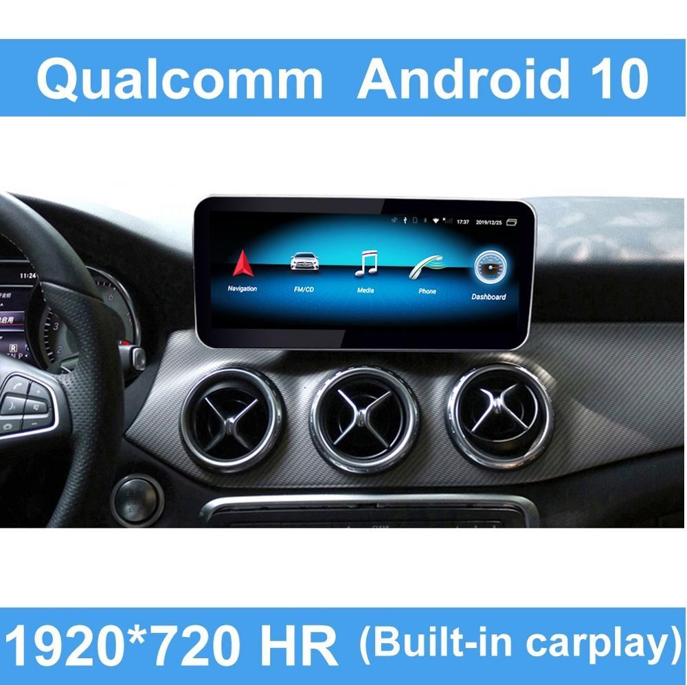 Android 10 Qualcomm coche sistema de mando pantalla para un Mercedes Benz DE LA CIA GLA clase 2013-2015 IPS LTE Wifi BT Carplay W176