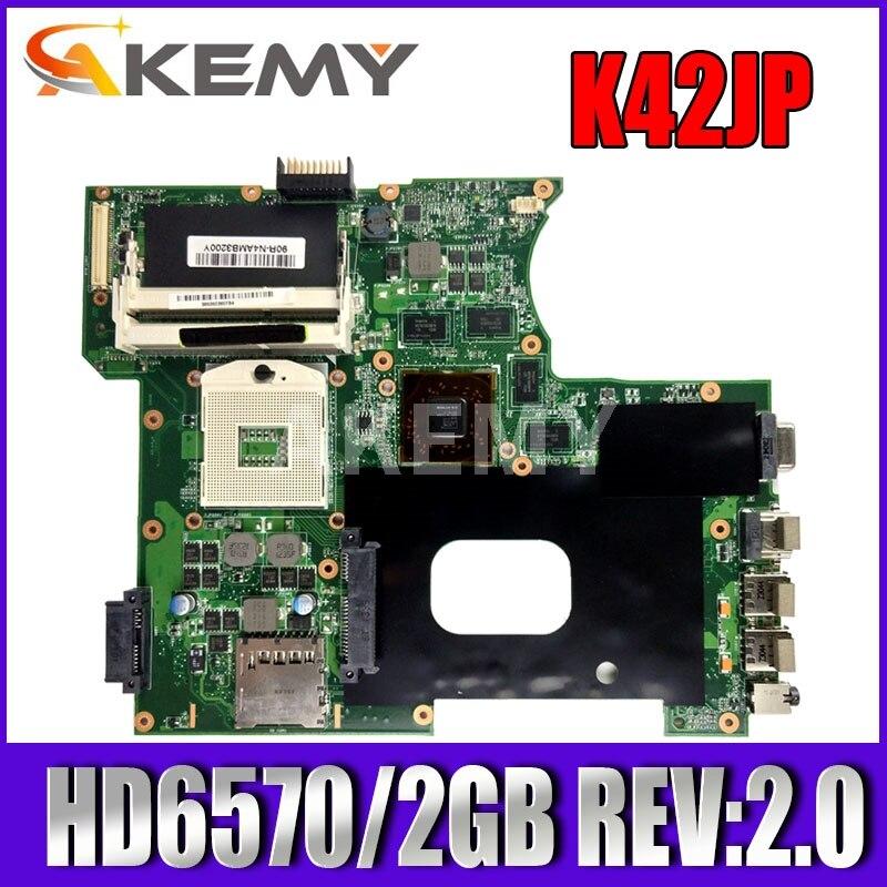 لوحة أم للكمبيوتر المحمول Akemy K42JP K42JA لـ Asus K42JP K42JV K42JA REV 2.0 لوحة رئيسية أصلية HD6570/2GB