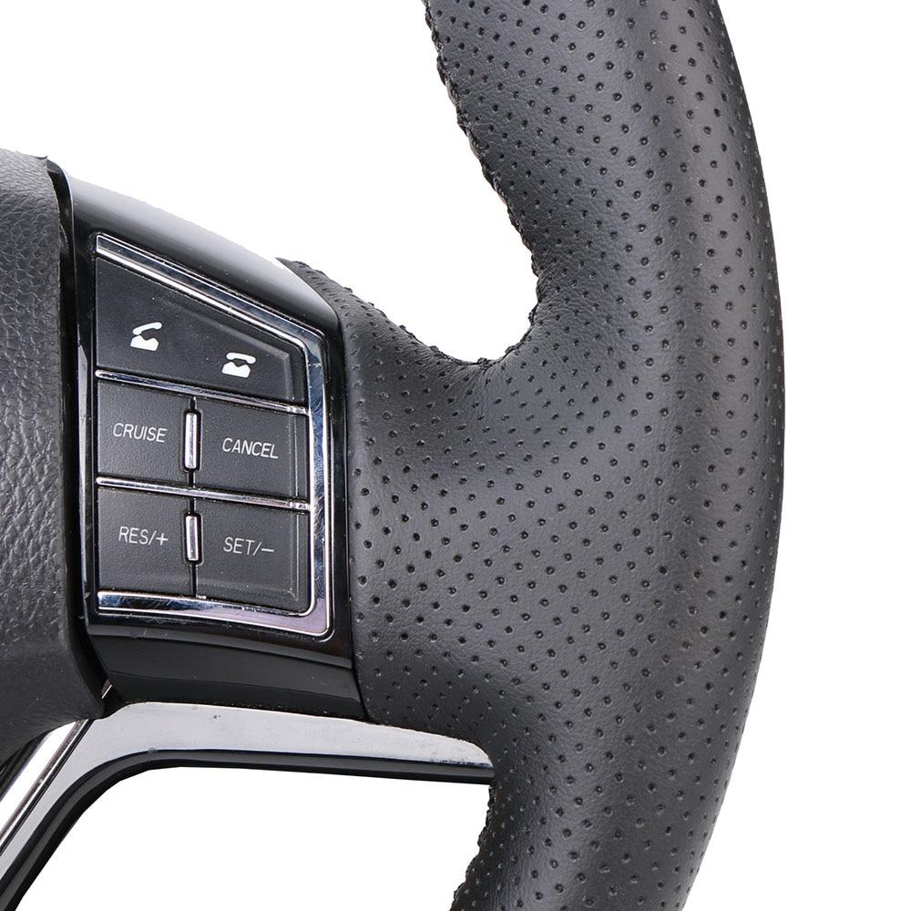 DIY Car Steering Wheel Cover Black Artificial Leather For Lada Vesta 2015 -2019 Xray 2015-2019 Braiding Cover For Steering Wheel enlarge