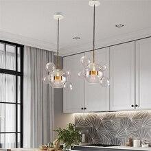 Nordique moderne Suspension lumières LED fer multi-verre bulles Mickey Mouse Suspension Luminaire Lampen pour salon Suspension