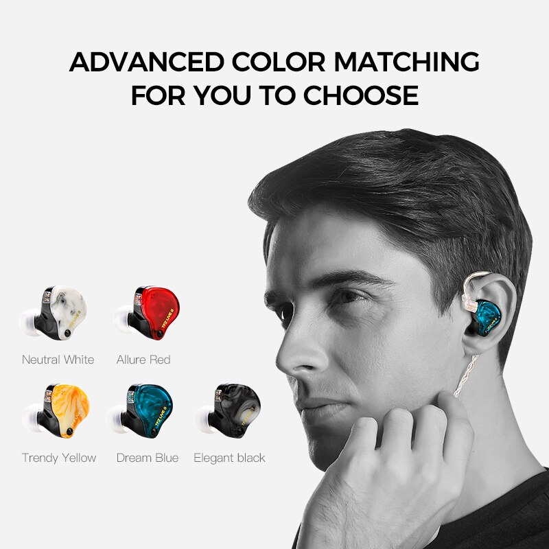 TFZ LIVE 3 Hifi In Ear Wired 3.5mm 0.78mm 2 Magnetic 1.0 Teslas Unit Bass Monitor Sport Earphones Upgraded Cable Earbuds Headset enlarge