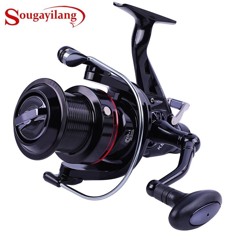Sougayilang KM50 KM60 Spinning Reel 4.9:1 5.2:1 Fishing Reel 15KG Max Drag Power Spinning Fishing Wheel Carp Fishing Tackles