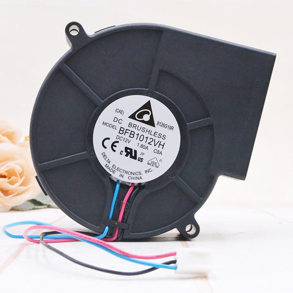 New Black DC 12V 0.5-1A 3 Pin Brushless Turbo Blower Centrifugal Fan BBQ Stove Cooking Cooler Powerful Air Blower Fan 4500RPM
